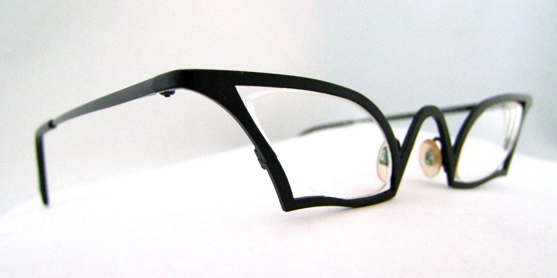 Bizarre Designer 1990s Eyeglasses By Theo James Belgum Bat