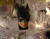Glitter Batman Head Ornament