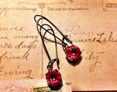 Vintage Pink Rhinestone Earrings