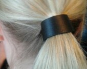 black leather hair cuff by odi boutique jewellery