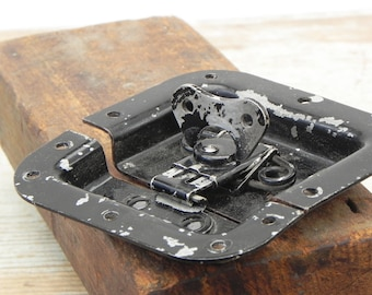 Salvaged vintage heavy duty trunk lock