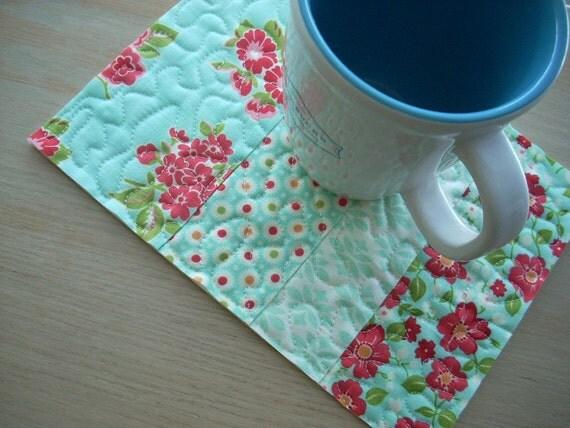 Marmalade mug rug - FREE SHIPPING