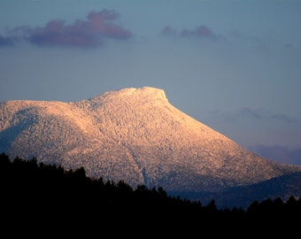 Camel's Hump in Snow- Photograph of Vermont in winter - many options to choose from starting at 10.00