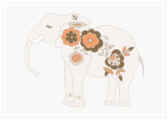 Little Elephant Decor   Elephant Art   Girl's Room