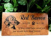 "Dachshund Grave Marker 12x6 - ""Red Barron"" design- Includes Shipping"