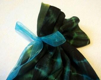 Teal Tie-dye Gift Bag