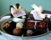 Double Cake Truffle and Brownie Favor Boxes