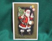 Antique Vintage Santa Drum Balloons Tree Sanders Postcard A Merry Christmas Scrap Booking Supplies