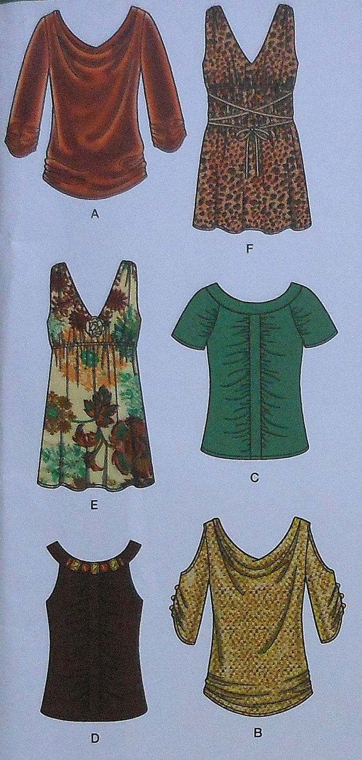 Casual Blouses Sewing Pattern Uncut Simplicity Easy To Make