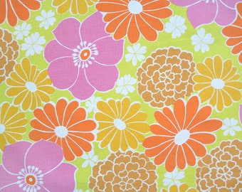 island floral, a vintage sheet fat quarter