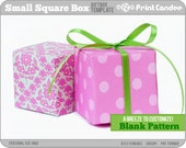 Gift Box Blank Template - Small Square Box - Personal Use Only - Printable - DIY