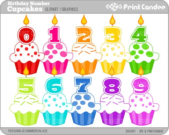 free clipart birthday numbers - photo #7