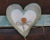 Rustic Ring Bearer Pillow- wrist band or Dog collar- green and burlap- wooden button