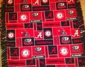 Double Layered Ultra soft, no pill, no fade Alabama Crimson Tide Fleece Blanket 4X6