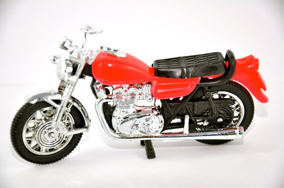 RESERVED FOR M. Anderson Red Motorcycle Cake Decoration Cake Topper
