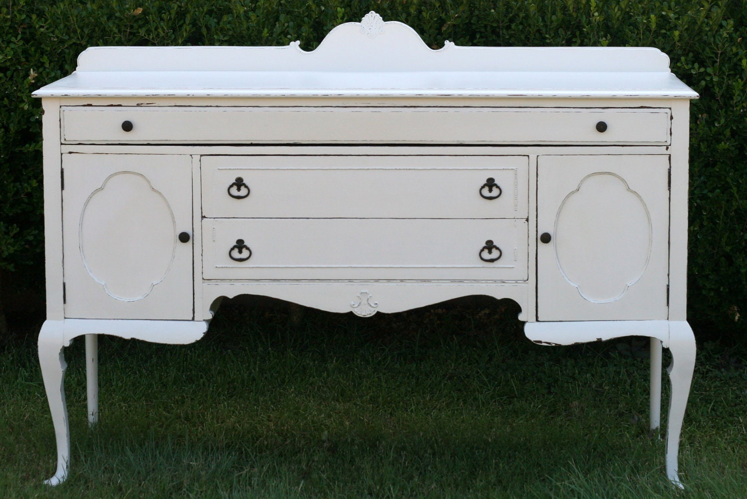 antique buffet shabby chic distressed vintage white sale. Black Bedroom Furniture Sets. Home Design Ideas