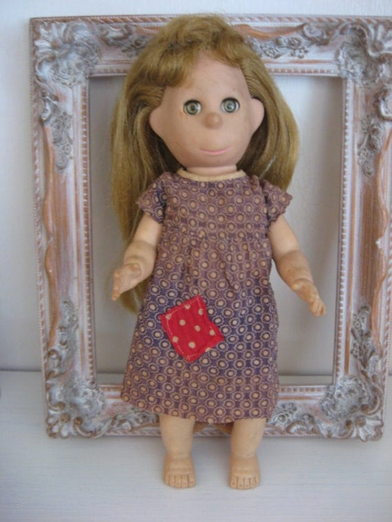 Poor Pitiful Pearl Vinyl Doll in Original Dress 1950's