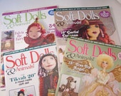 Lot of 19 Cloth Doll and Soft Doll Magazines. DESTASHING My Entire Collection