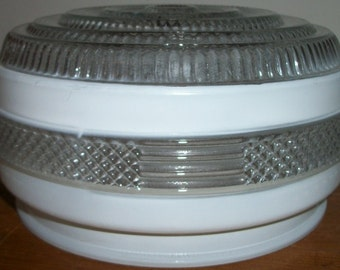 Small Clear and White Light Shade