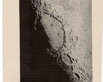 1893 moon view original antique celestial astronomy print - mare crisium