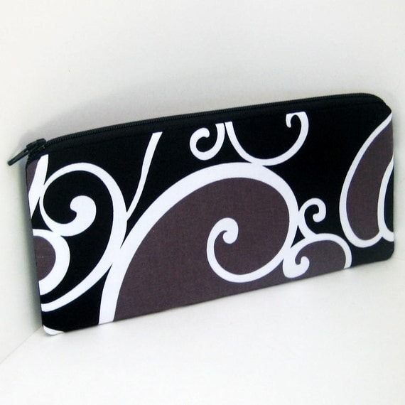 Zippered Pencil Pouch MUD SURF Notions Bag