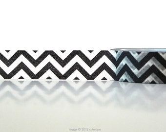Black Chevron Washi Tape Masking Tape black washi tape V2
