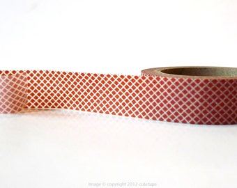 Burnt Umber Grid Washi Tape