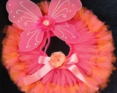 Baby Girls Birthday Tutu Dress Outfit, Strawberrie Tangerine Orange Fairy Tutu Costume