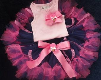 Baby Girls Birthday Tutu Dress Outfit, Sugar Pink Baby Tutu Dress