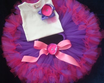 Baby Girls Birthday Tutu Dress Outfit, Princess Purple Birthday Tutu Dress