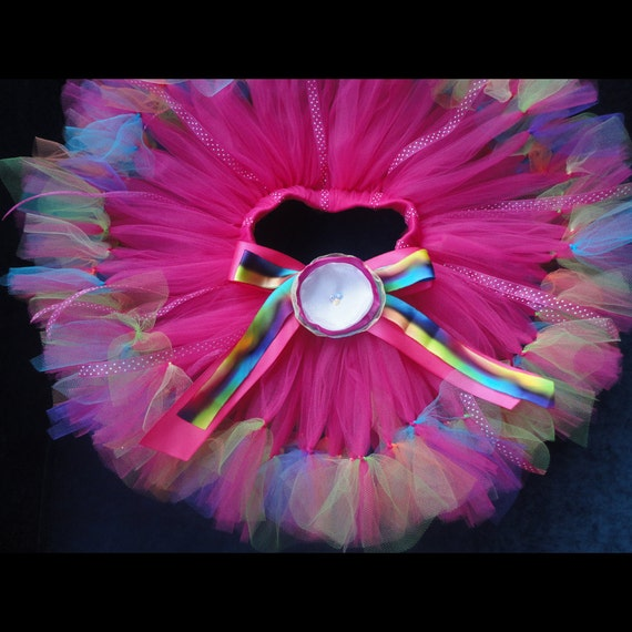 Baby Girls Birthday Tutu Dress Outfit  Rainbow Sugar Pops Birthday Tutu Skirt