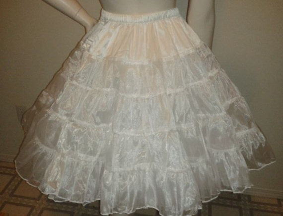 Organza Petticoat Four Layers Custom Sized White or Light Pink