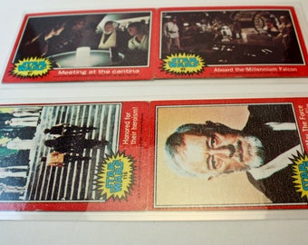 Upcycled Inspired By Star Wars, Bookmarks made from 1977 Trading Cards Set of 2 features Luke, Han