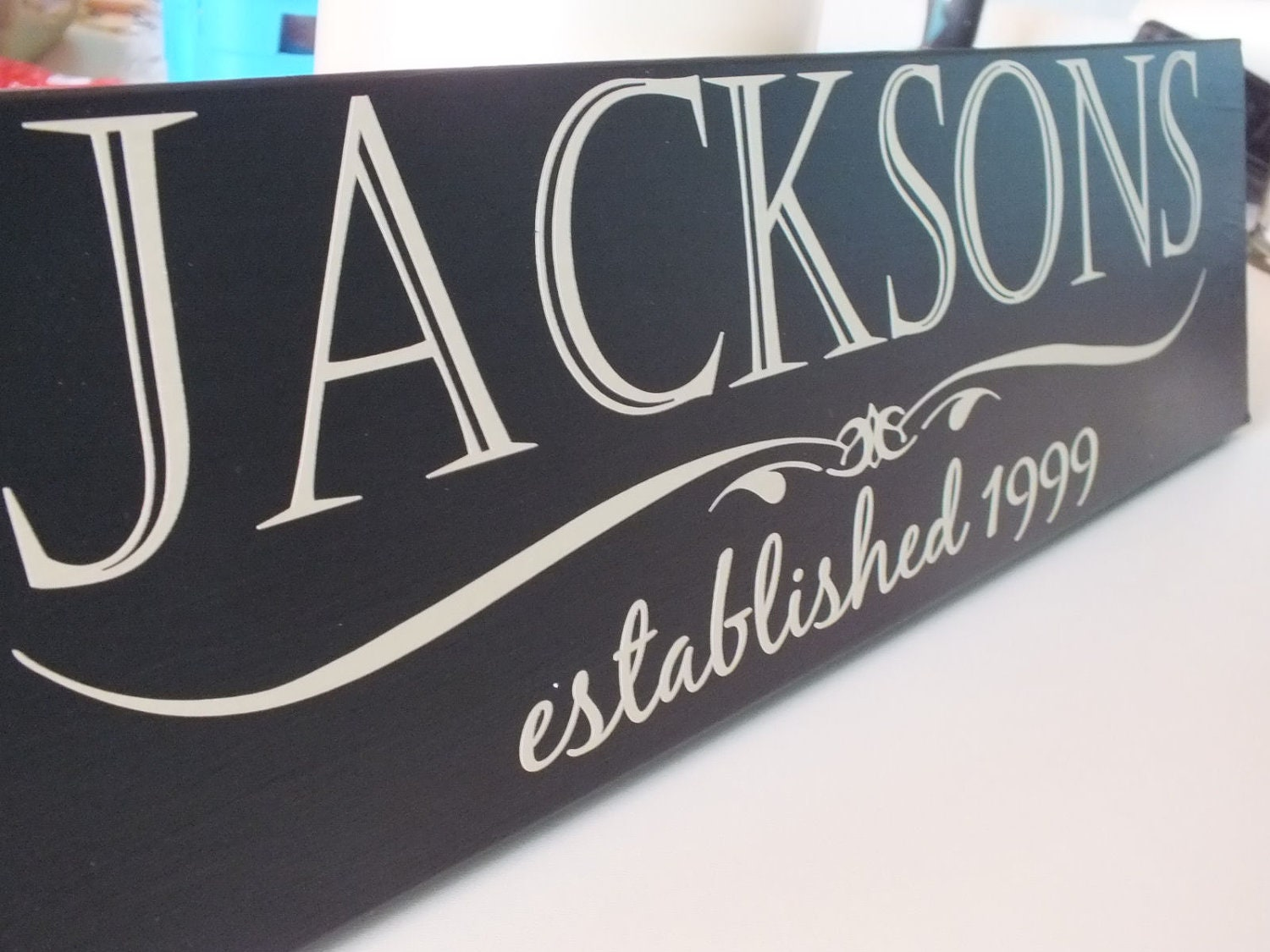 Personalized Name Sign Board No Vinyl Lettering By