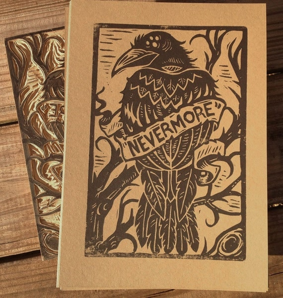 Nevermore -  Alternative Block Print
