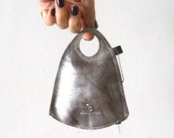 Finger wallet - Polished silver