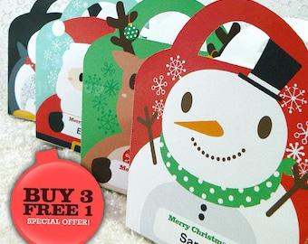 Kawaii Christmas Joy Treat Basket Giftbag EDITABLE Printable PDF offer