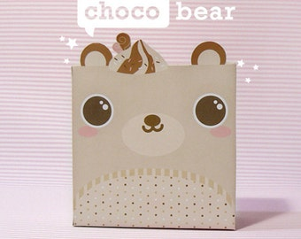 Choco Bear Giftbox Printable PDF