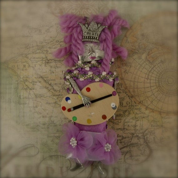 Spirit Art Doll - Mixed Media Creative Bella for Inspiration and Motivation - Clearance Sale