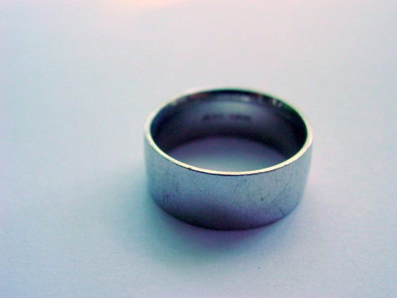 Vintage Silver Ring, Sterling Silver Simple Ring Band 925 Vintage Jewelry Jewellery Size 10.5 Unisex