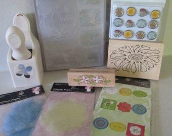 Summer Spring Flower themed craft supplies