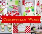 CHRISTMAS Party Decorations - PRINTABLE Party Package - My Christmas Wish Collection - By A Blissful Nest - As Seen On Celebrations At Home