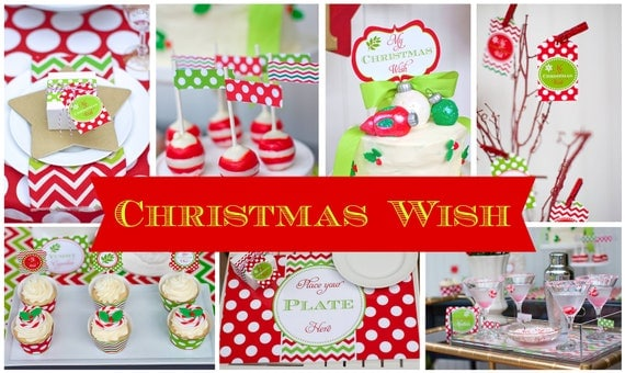 Items similar to christmas party decorations printable for Wish decoration