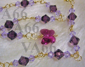 14K Gold Filled Swarovski Crystal Anklet Bicone and Butterfly Anklet Colours Sterling 925 Silver Bridal Bridesmaid, mob