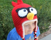 Red Bird hat ALL sizes from Newborn to Adult