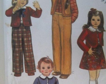 Sale - Vintage - Jacket - Vest - Skirt - Shirt - Pants -  McCall's 7773 -  Toddler/Child -  Size 4 - Uncut Pattern