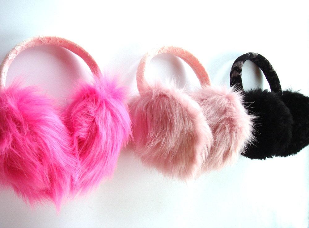 kids earmuffs toddler girl earwarmer winter accessory cute. Black Bedroom Furniture Sets. Home Design Ideas