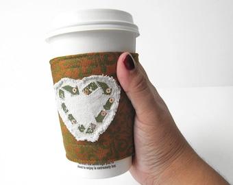 Coffee Cozy Necktie Coffee Cozy Orange Coffee Cozy Coffee Sleeve Beverage Holder Heart Cozy Coffee Cup Cozy To Go Cup Sleeve Tea Cozy