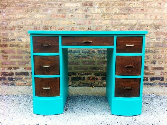 RESERVED - Rustic Vintage Modern Desk