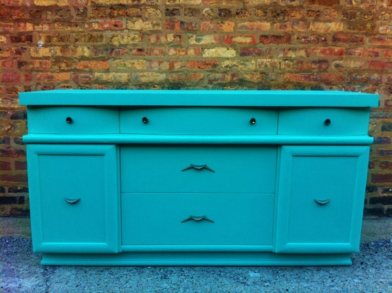 Vintage Buffet In Chevy Blue